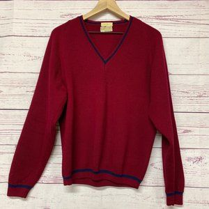 Squire Shop Unisex Pullover Sweater Red Blue VNeck